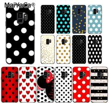 MaiYaCa Red Gold Polka dots Dot Custom Photo Phone Case for Samsung Galaxy S7edge S6 S10Plus S10lite S10E S8 S7 S9 Plus(China)