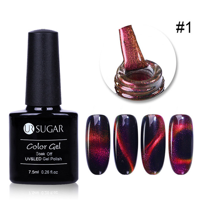 Aliexpress.com : Buy UR SUGAR 7.5ml Luminous Magnetic 3D Cat Eye Gel Polish Starry Glitter UV