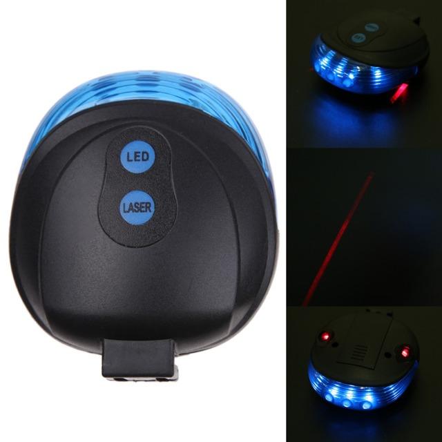Rowerowe światła rowerowe wodoodporne 5 LED 2 lasery 3 tryby rower Taillight bezpieczeństwa światło ostrzegawcze rower tylny Bycicle światło tylne Lampa tanie i dobre opinie Baterii Ramki W ROBESBON Czerwony niebieski Tworzywo sztuczne VYI