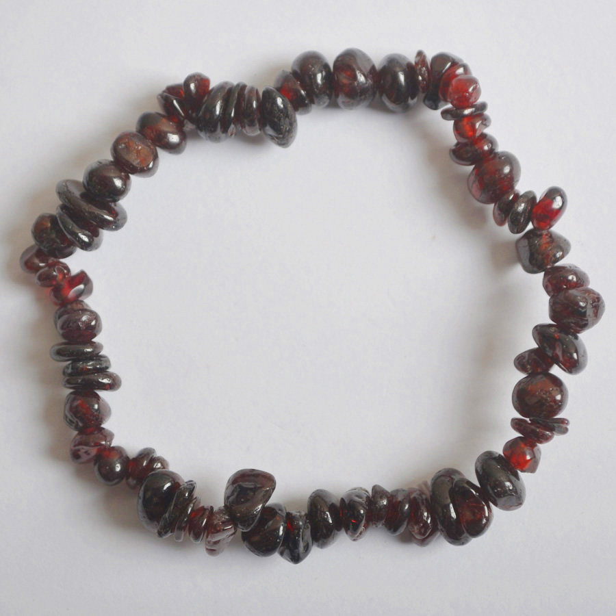 Jewelry & Accessories Bracelets & Bangles Lucky Chip Beads Red Garnet Stretch Bracelet 8 Inch Jewelry For Gift G672 Skillful Manufacture