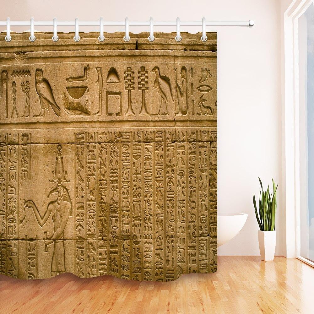 72 egyptian egyptian egyptian hieróglifos egípcios no templo cortina de chuveiro com ganchos conjunto antigo egito banheiro tecido impermeável para arte banheira decoração