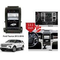 13.3 Tesla Type Android Fit Ford Taurus 2012 2013 2014 2015 2016 Car DVD Player Navigation GPS Radio