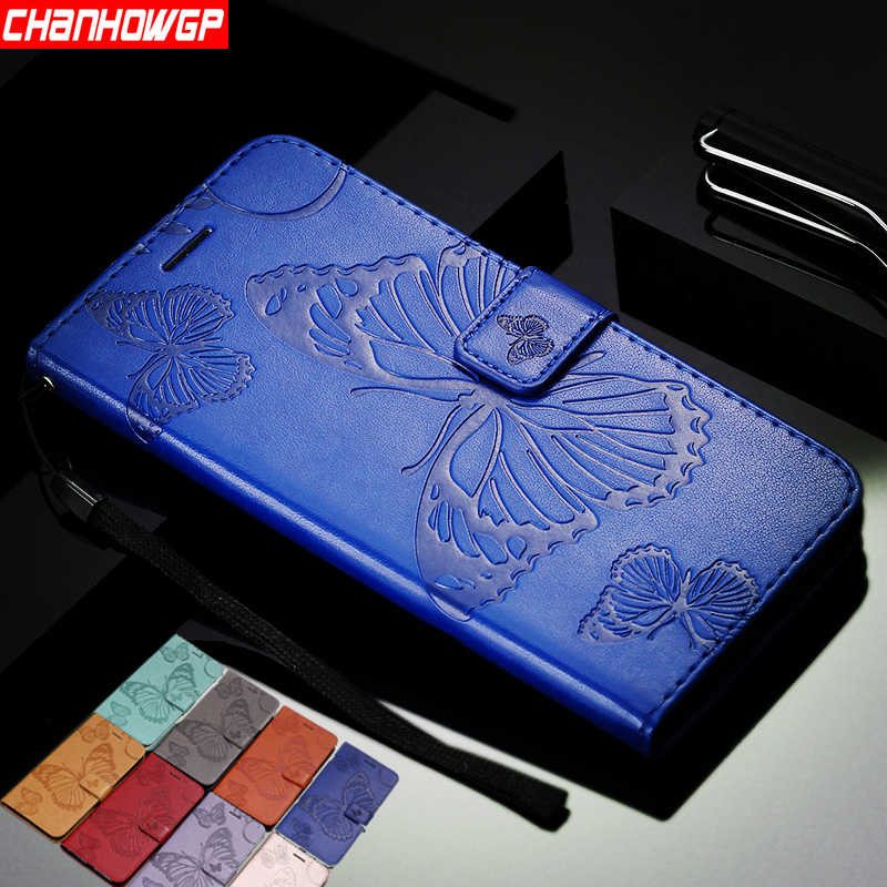 Dual 3D Butterfly Wallet Case for Sony Xperia L1 L2 XA1 XA2 XA Ultra XZ XZ1 XZ2 Z3 Z5 Compact Mini E5 XZ2 Premium Phone Coque