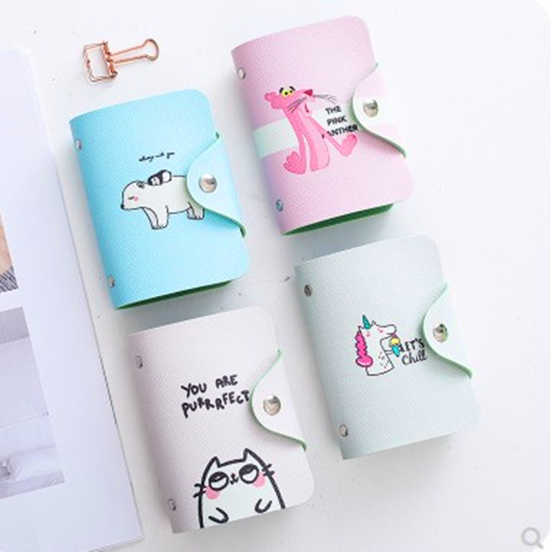 Business Card Package Female Multi-card Place Men And Women Bank Credit Card Package Slim Cute Card Holder Random