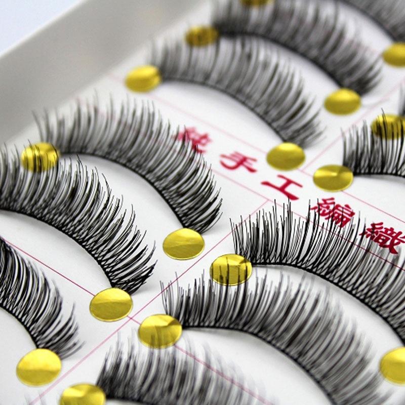 10Pair 2017 Black Natural Long Thick False Eyelashes For Building Fake Eye Lashes Makeup Mink Eyelash Extensions Tools Beauty