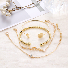 4 Pcs/ Set Classic Arrow Knot Round Bracelet for Women