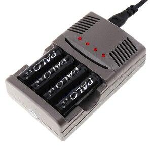 Image 2 - Светодиодный светильник PALO C819, умное зарядное устройство для никель металлогидридных аккумуляторов, аккумуляторных батарей типа AA/AAA, для литий ионных батарей, 9 В, 6F22, вилка стандарта США и ЕС
