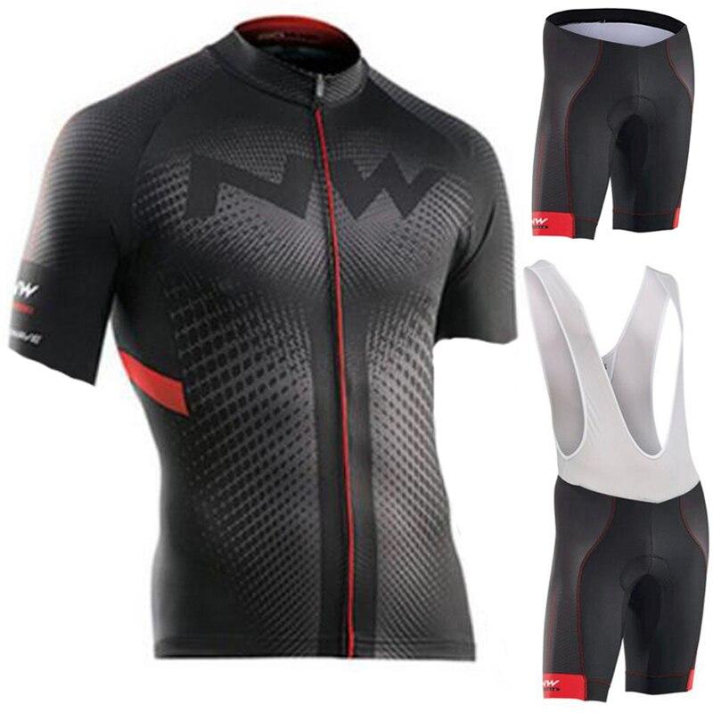 NW Marke Sommer Radfahren Jersey Set Atmungs MTB Fahrrad Radfahren Kleidung Mountainbike Tragen Kleidung Maillot Ropa Ciclismo
