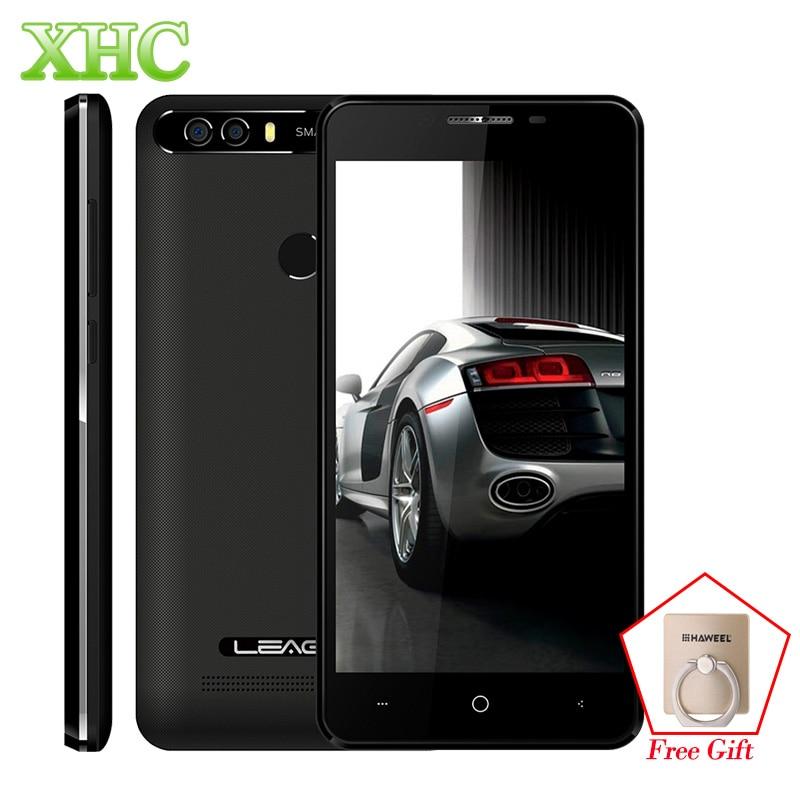 Original leagoo kiicaa energía smartphone 2 GB/16 GB doble cámara trasera huella digital 5.0 ''Android 7.0 MTK6580A quad core 3G teléfono móvil