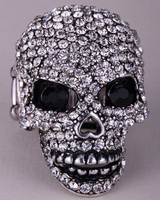 Skull Sleleton Brooch Pin For Women Biker Gothic Jewelry BD17 Moving Jaw Halloween Charm Wholesale