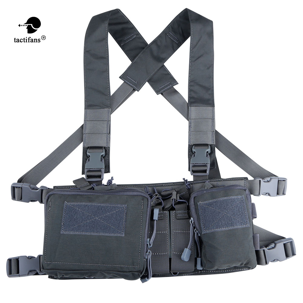 Tactical Chest Rig X Harness Vest Carrier Armor Army Rifle Pistol Magazine Pouch CRH Hunting Equipment