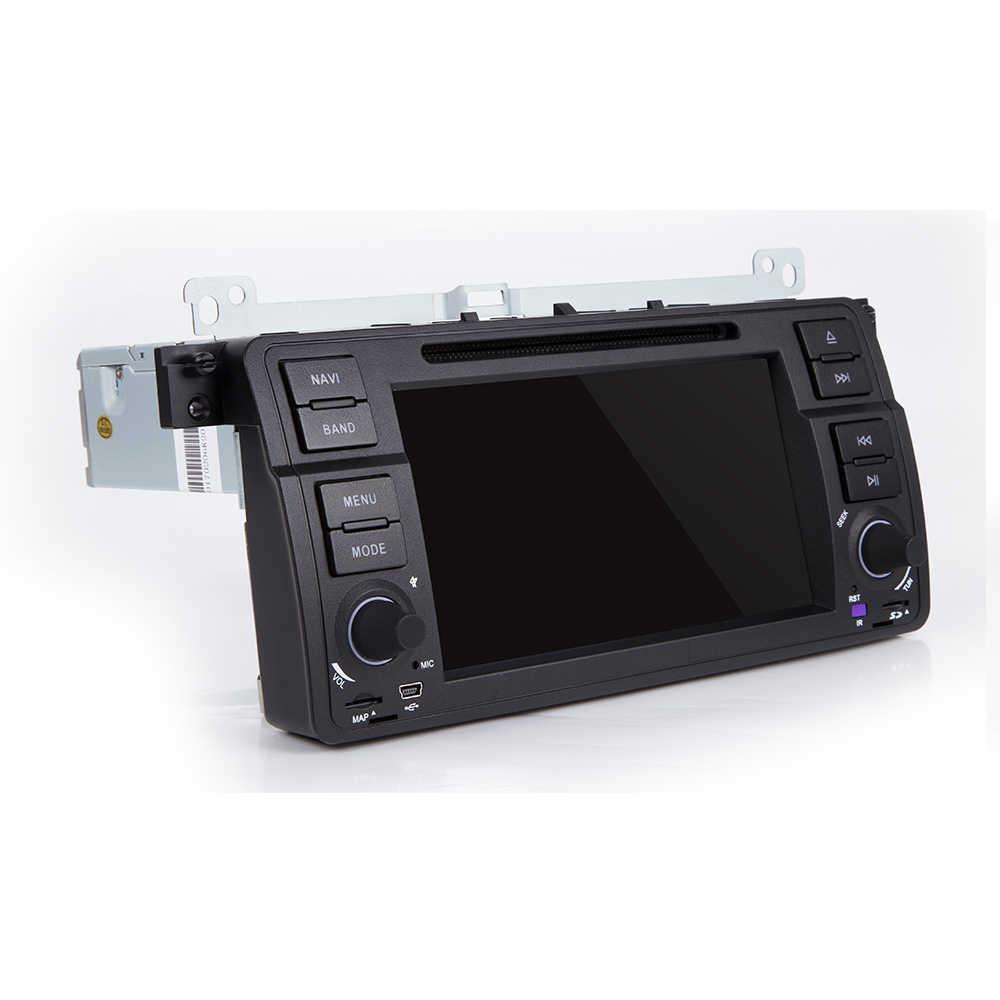 1 DIN Android 10 Xe DVD Đa Phương Tiện Điều Hướng Âm Thanh Cho Xe BMW E46 M3 Rover 75 1998-2006 định Vị GPS NAVI Wifi Bọc Vô Lăng