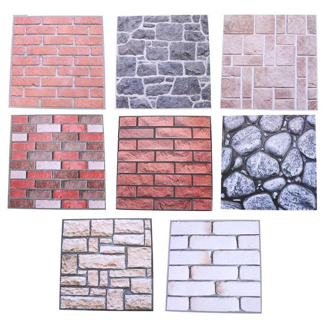 3d brick pattern wall sticker pvc wall decals/adhesive family wall