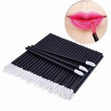 50 Pcs Disposable Lip Brush Eyelash Makeups Brushes Lash Extension Mascara Applicator Lipstick Wands Set Cosmetic Makeup Tools
