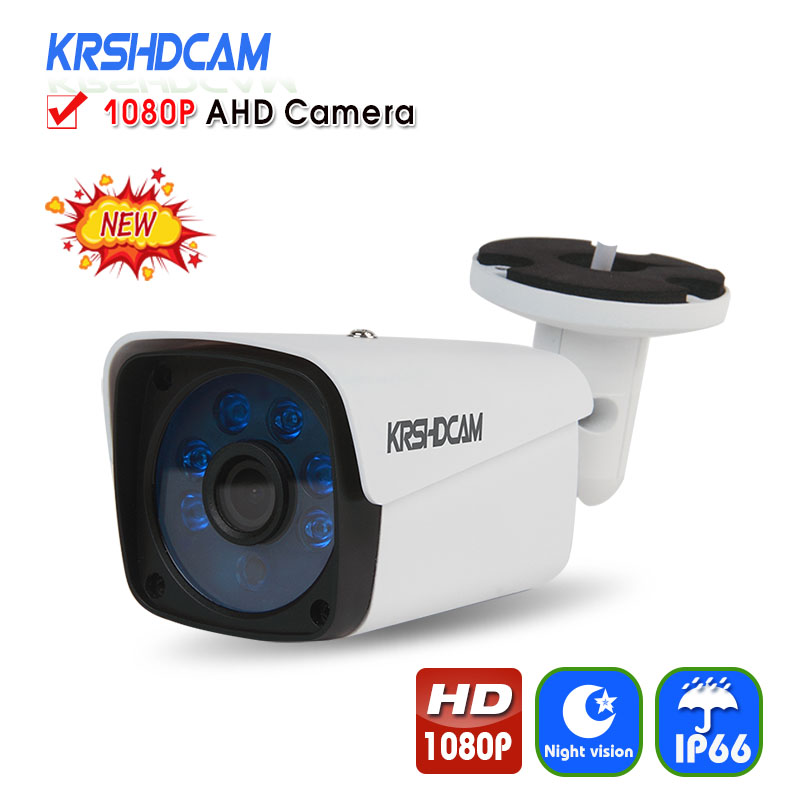 KRSHDCAM Full HD 1080P AHD Camera Bullet Outdoor Security CCTV 6PCS ARRAY  Night Vision Waterproof IP66 Home Video Surveillance