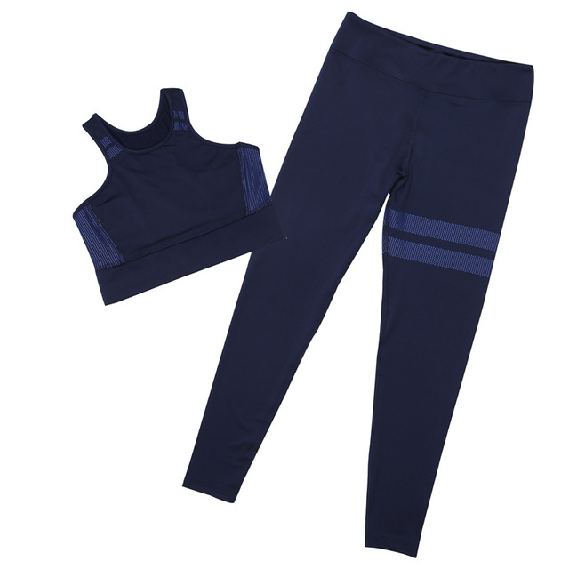 2018 Pure Color White Dot Printing Round Collar Vest+Long Pants Exercise Women Tracksuit Two-Piece Sets Seven Colors Women Suits 5