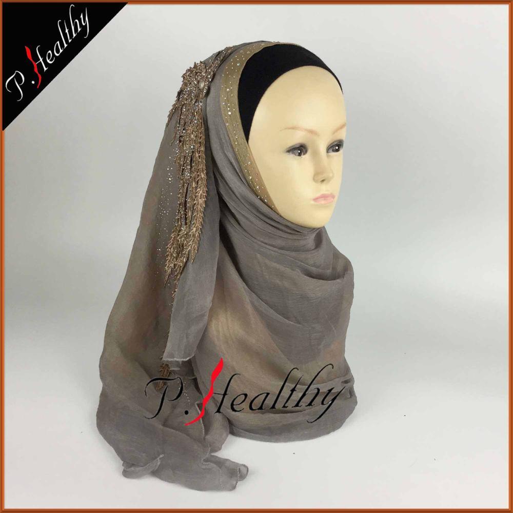 Свадебный хиджаб платок головной убор одежда модная свадебная шаль шарфы Муслин, можно выбрать Цвета, phw001 - Цвет: color12