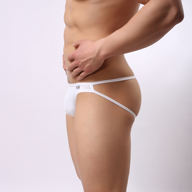 BRAVE PERSON fashion Solid Nylon Transparent mesh thong