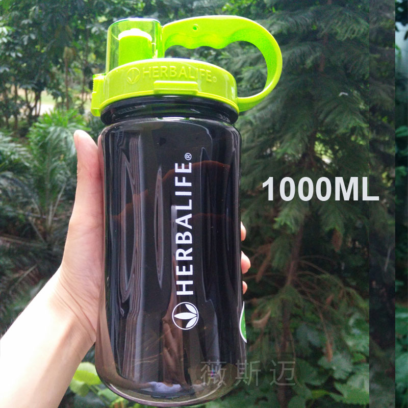 Wholesale 6 pcs lL 2LLarge capacity herbalife brand 1000ml water Bottle leak proof plastic space with