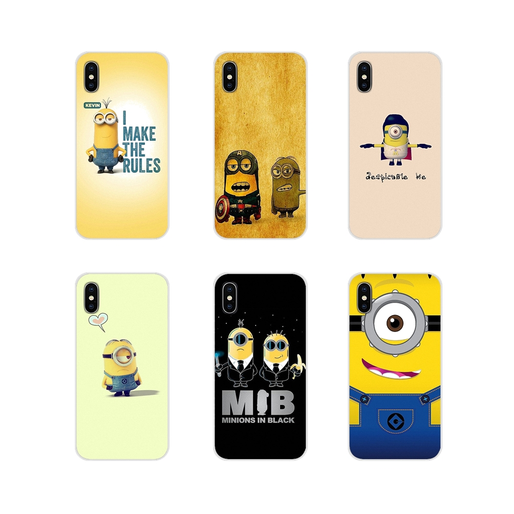 Nette Cartoon Gelb Minions Für Apple <font><b>iPhone</b></font> X XR XS MAX 4 4 S 5 5 S 5C SE 6 6 S 7 8 Plus ipod touch 5 6 Transparent TPU Fall Abdeckung image