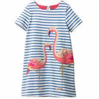 Robe d'été fille 2019 marque décontracté enfants Costume pour filles robes 100% coton bébé fille vêtements 2-7 ans retour à l'école robe