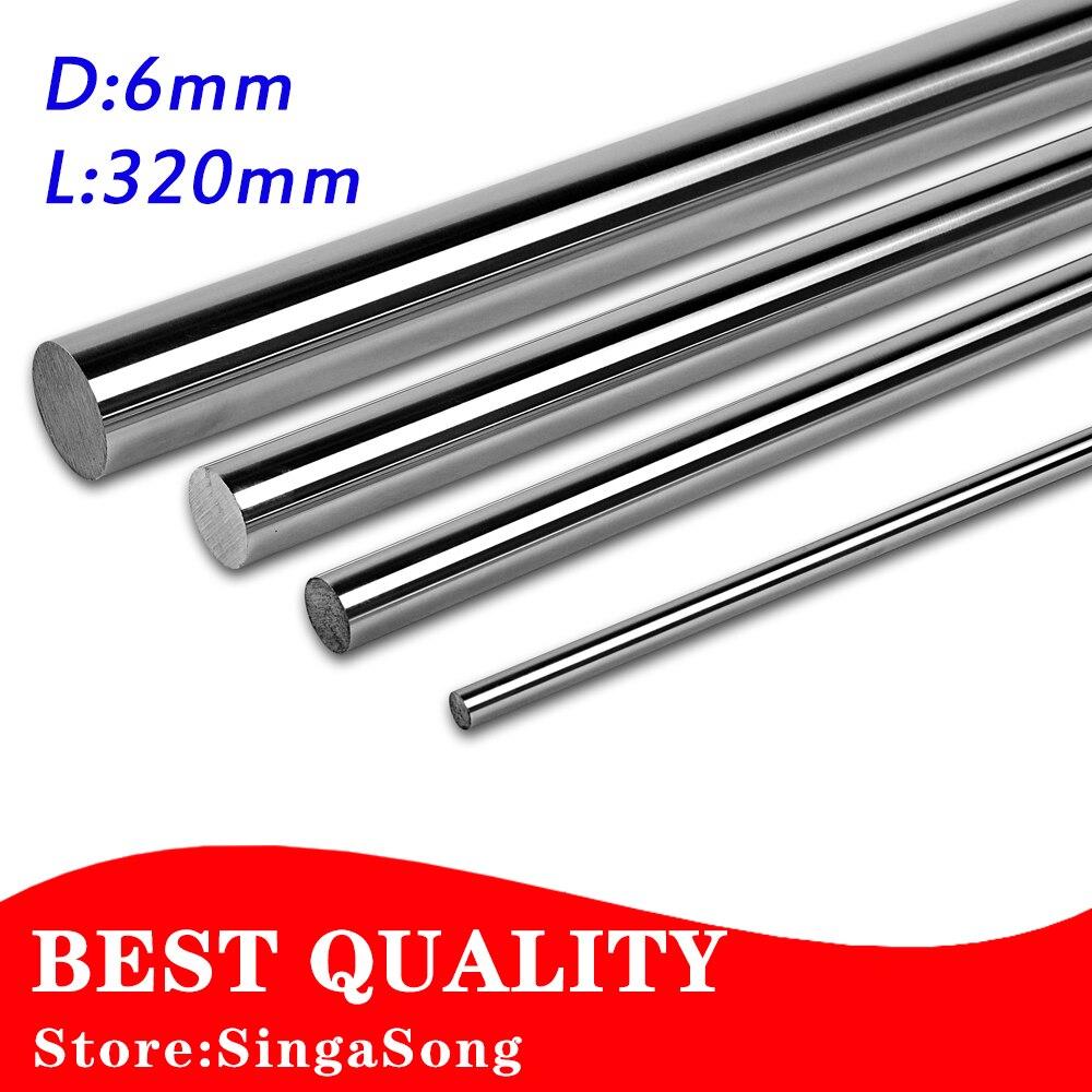 2 pcs/lot 6mm x 320mm length 6mm linear shaft 320mm Cylinder linear guide rod slide Rail motion Optical Axis rails CNC parts linear guide rails hgh hgl egh15 20 25 30 35 sa ha ca
