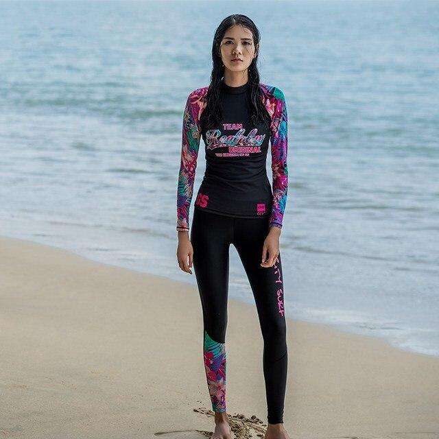 GSOU SNOW Brand Wetsuit Women Diving Suit Scuba Swimsuit Long Sleeves Pants Swimwear Surfing Clothes Summer Kitesurf Rashguard