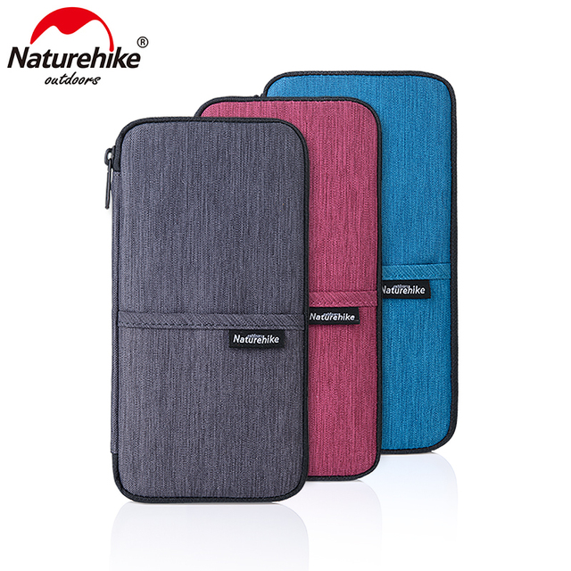 Naturehike Multi Function Outdoor Bag For Cash Passport Cards Travel Hiking Sports Travel Wallet 3Colors