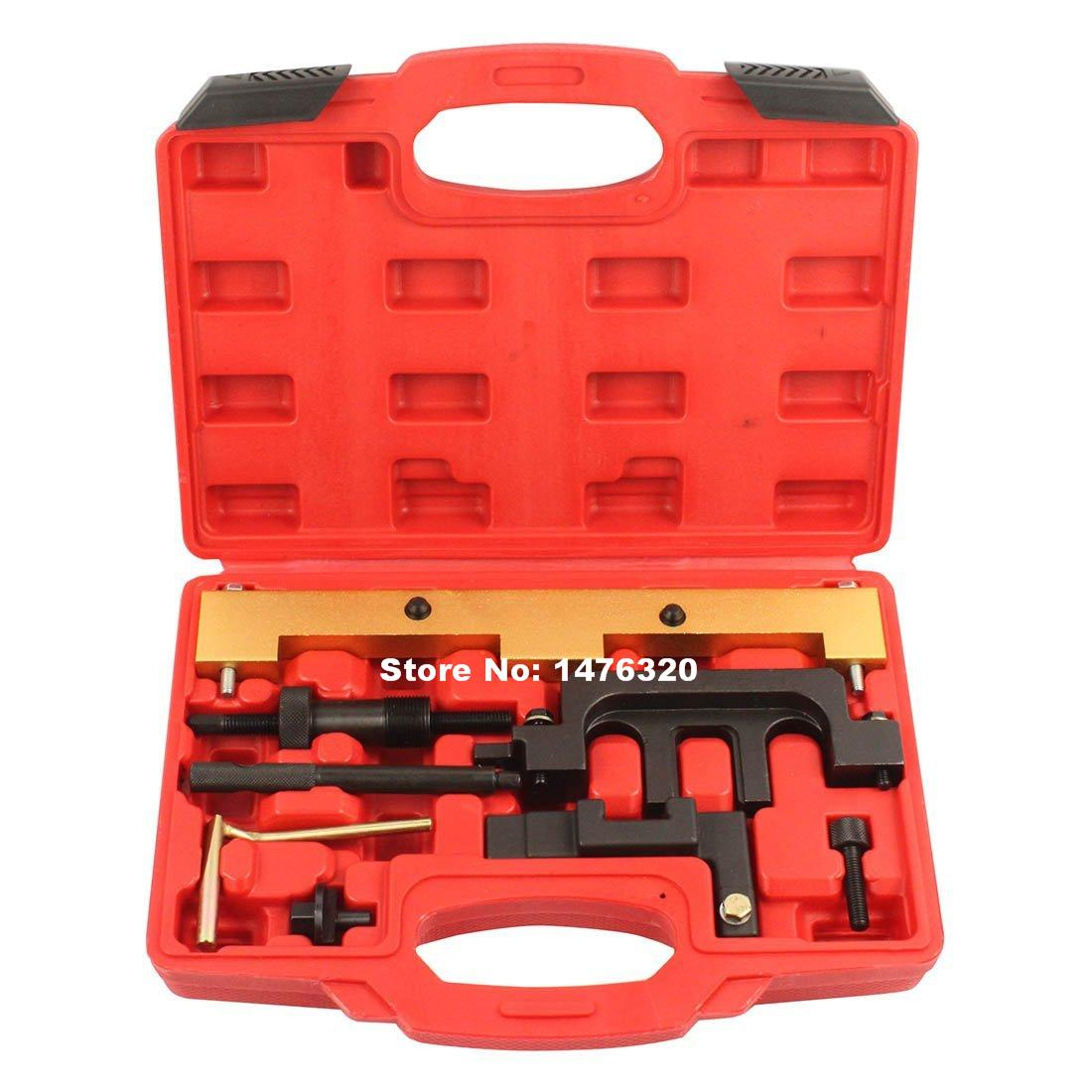 Automotive Petrol Engine Timing Camshaft Locking Alignment Tool Set For BMW N42 N46 AT2026 wholesale 2 2 2 5 dci engine camshaft timing tool crankshaft alignment locking set for renault auto repair tools 2pcs lot