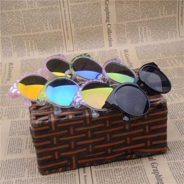 Fashion Boys Kids Sunglasses Aviator Style Brand Design Children Sun Glasses 100%UV400 Protection Oculos De Sol Ga