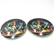 10pcs/lot dishes baby shower paper plates birthday party  sc 1 st  AliExpress.com & Buy star wars paper plates and get free shipping on AliExpress.com