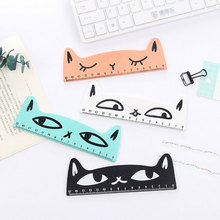 купить 1 PCS Wood Straight Ruler Creative Supplies Cat Shape Ruler Office Supplies student Learning stationery School Supplie 15cm по цене 63.73 рублей