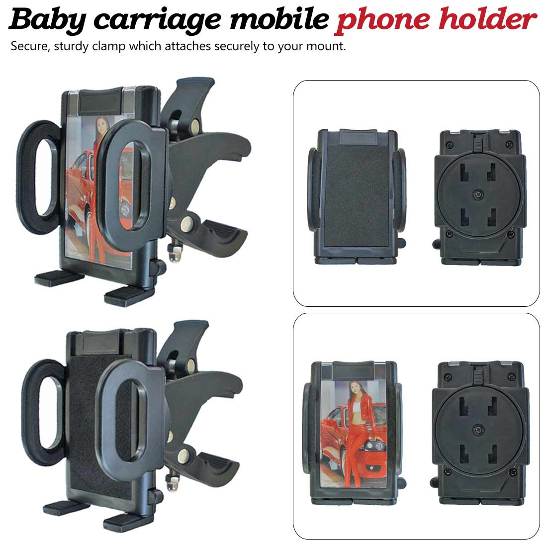 Infant Stroller Bicycle Carriage Cart Accessory Plastic Bottle Cup Holder Baby Activity Produ Baby Stroller Mobile Phone Holder