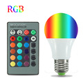 RGB LED Light Globe Bulb 5W 10W 20W E27 16 Color Changing Lamp Bulb With 24 Keys IR Remote Control Spotlight Lighting AC85-265V