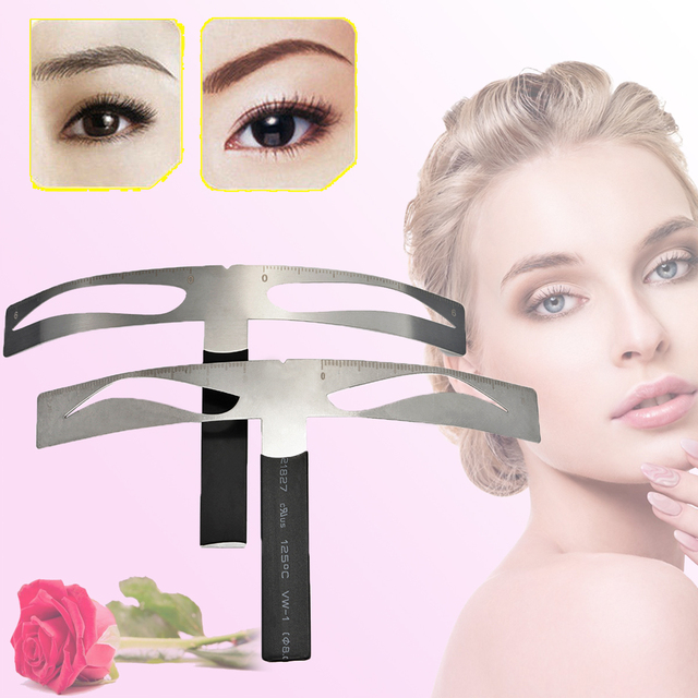 New Microblading Eyebrow Balance Ruler Metal Tattoo Shaping Stencil Permanent Makeup Caliper Measure Definition Grooming Tool 1
