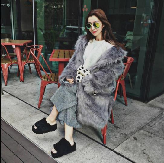 Artificielle D'hiver 2018 La Moelleux Veste Manteau Femme Outwear Z332 Fluffy Femmes Faux Taille De Fourrure Fausse Plus 0A55gqwn