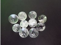 (10pcs/lot) 100% natural white Quartz crystal sphere healing