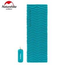 Naturehike Outdoor Ultralight Wave Shape TPU Inflatable Camping Mat Waterproof Sleeping Pad Picnic Folding Mattress NH18C009-D