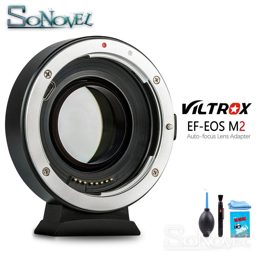 Viltrox EF-EOS M2 AF Auto-focus EXIF 0.71X réduire la vitesse Booster adaptateur d'objectif Turbo pour objectif Canon EF vers appareil photo EOS M6 M50 M100
