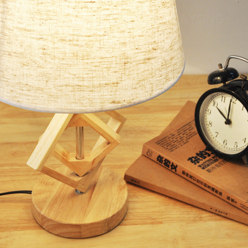Vintage Wooden Wood Table Lamp AC 90 260V Table Light Creative Classic  American European Style For Living Room Bedroom Bedside  In Table Lamps  From Lights ...