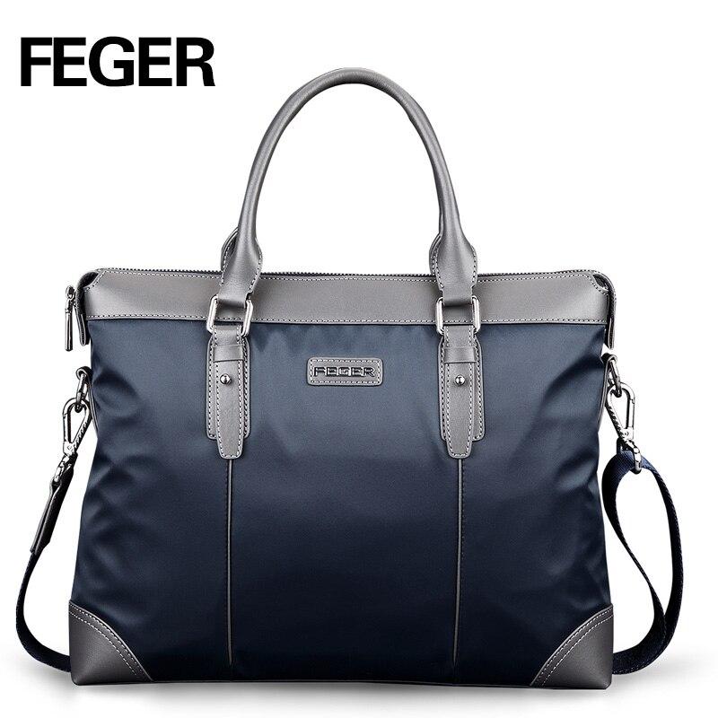 FEGER Nylon Men Bag Business Briefcase Handbag Shoulder Bag Daily Use 13