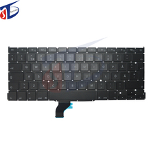 "5pcs/lot A1502 SD SW FI keyboard without backlight backlit for macbook pro 13"" retina keyboard without backlit 2013-2015year"