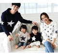 Star Family Set S-3XL Casual Hoodies Family Clothing Mother/Mom and Daughter Father Son Clothes Parent-Child Clothing HP18