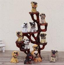 12 Dogs Figure & Resin Display Rack Home Decor Kids Collection