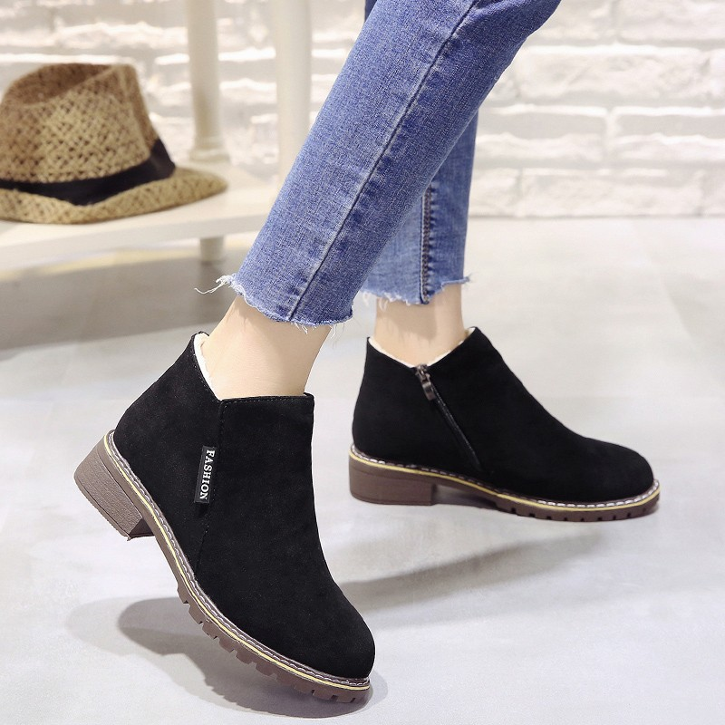 2018 new Boots Woman Shoes Winter Female Warm Fur Water-resistant Upper Fashion Non-slip Sole Free Shipping New Style Snow Boot (2)