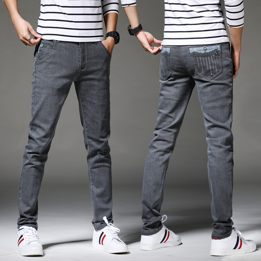 13 Style Design Denim Skinny Jeans Distressed Men New 2019 Spring Autumn Clothing Good Quality 3