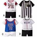 Baseball Esporte Macacão de Bebê Infantil de Manga Curta Conjunto de Roupas de Verão Do Bebê Da Menina do Menino Macacões Para O Bebê Recém-nascido Roupas Ropa Bebes