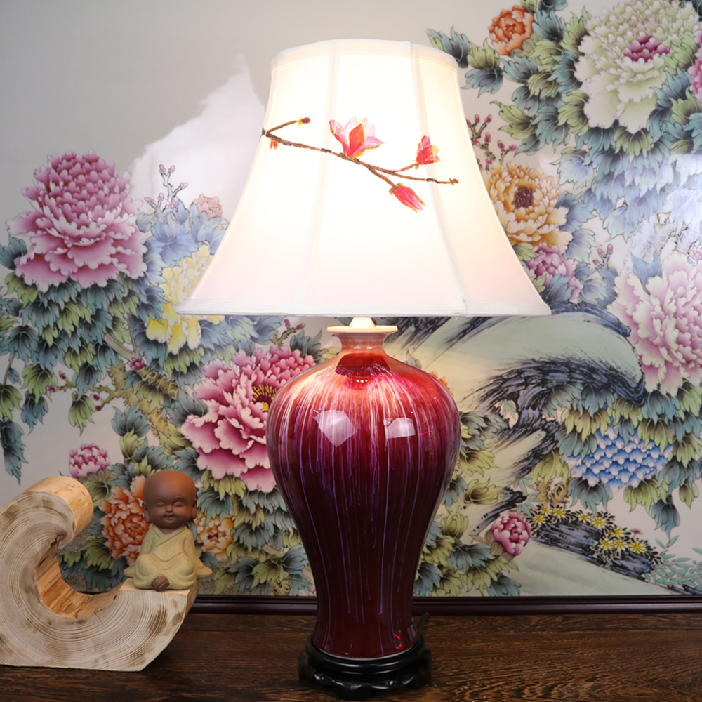 Vintage Chinese Porcelain Ceramic Table Lamp Bedroom