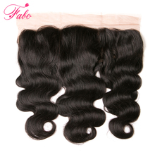 FABC Brazilian Lace Frontal Body Wave 130% Density Free Part With Natural Hairline 100% Remy Human Hair 1 Bundle