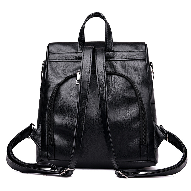2018 new fashion Women Travel Backpack PU Leather Purse Zipper Girl School Bag Casual Shoulder Bags LBY2018
